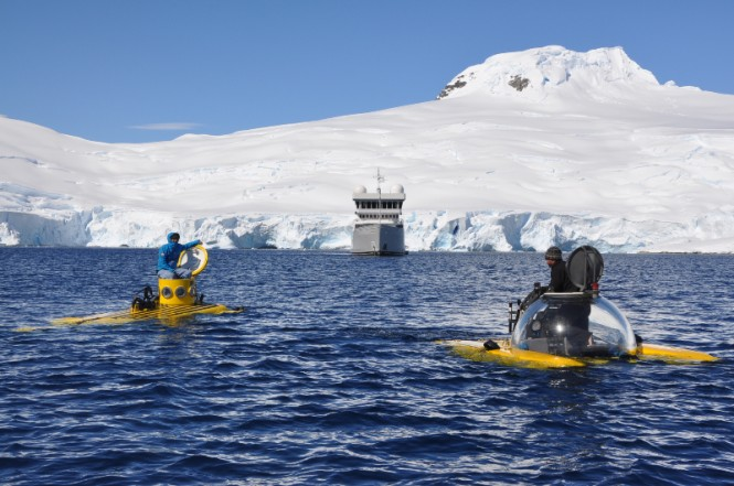 Triton 1000/2 and PC1201 submersibles during Henry Cookson Adventures trip on board expedition charter yacht SURI