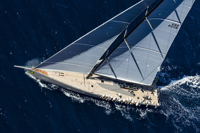WallyCento luxury yacht Hamilton - Image by Rolex/Carlo Borlenghi