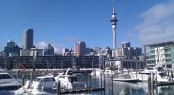 Waterfront Auckland's Viaduct Marina situated in a popular NZ yacht charter location - Auckland