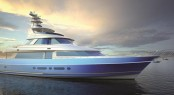 115' Nordlund Sportfisher Yacht with unique glass by Glasshape and Alexseal