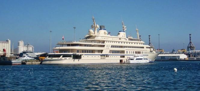 155 m mega yacht Al Said - Photo Credit Qatarperegrine