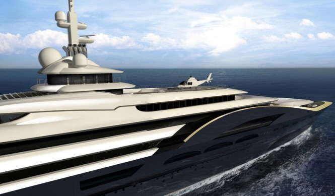 180 m luxury motor yacht My World concept