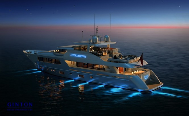 41m GINTON Naval Architects designed superyacht