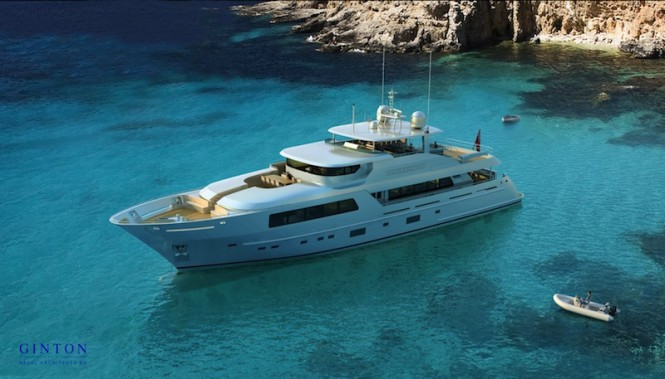 41m superyacht by Ginton Naval Architects