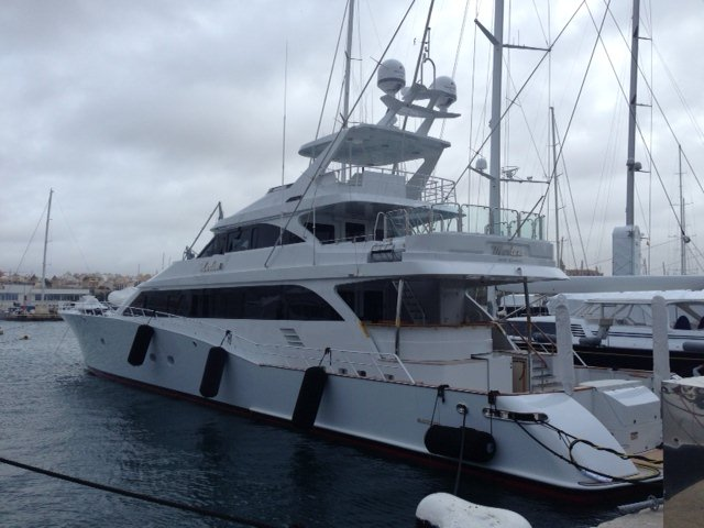 43 m Trinity Sportfish Yacht Marlena equipped with Seakeeper gyros