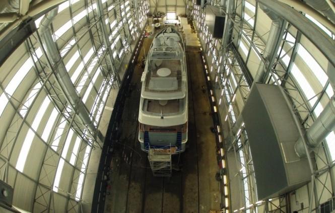 43m superyacht Annamia under refit at Monaco Marine in La Ciotat
