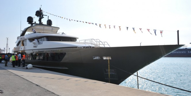 46m Sanlorenzo luxury yacht Achilles at launch