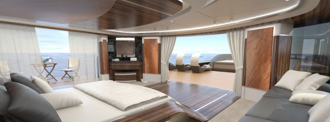 50 m Wilkinson and Foster Luxury Yacht Conversion Project - Master Cabin