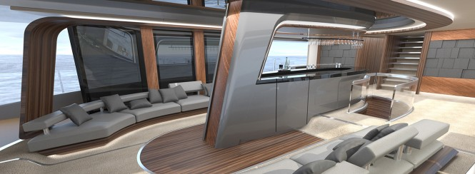 50 m Wilkinson and Foster Superyacht Conversion Design - Salon