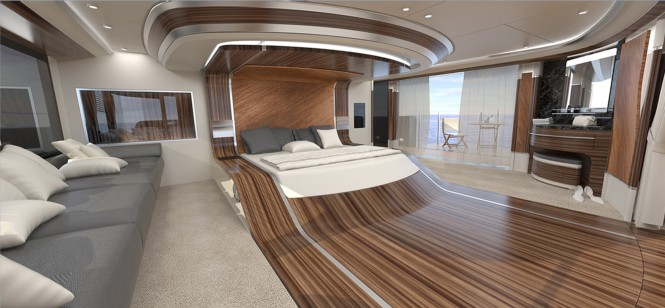 50 m Wilkinson and Foster Yacht Conversion Design - Master Cabin