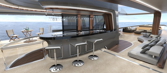 50 m Wilkinson and Foster Yacht Conversion Project - Salon