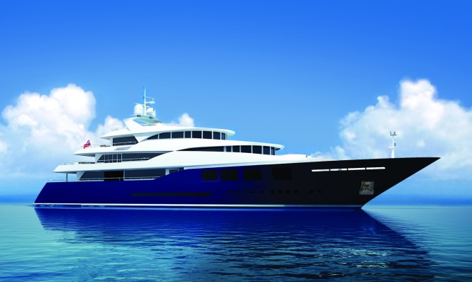 60 m mega yacht Ruea 60 concept by Ruea Yachts