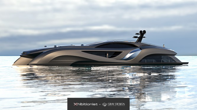 75m motor yacht Xhibitionist concept by Eduard Gray of Gray Design