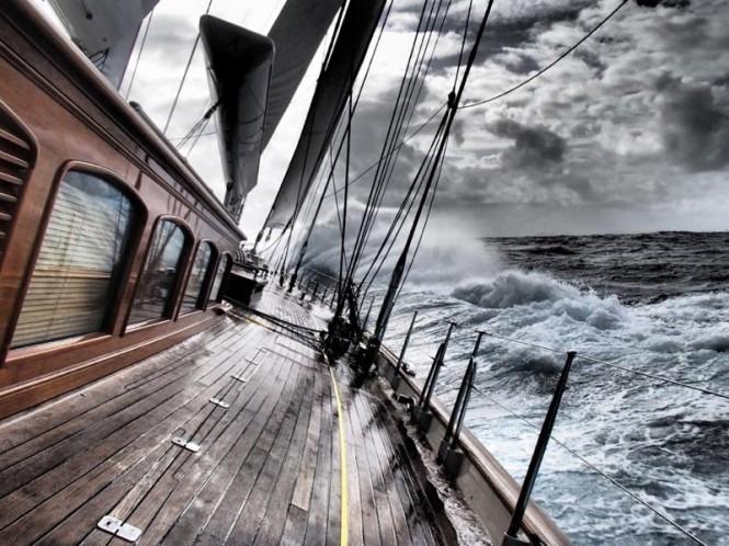 Aboard superyacht Athos Credit: Athos/Miles Seddon