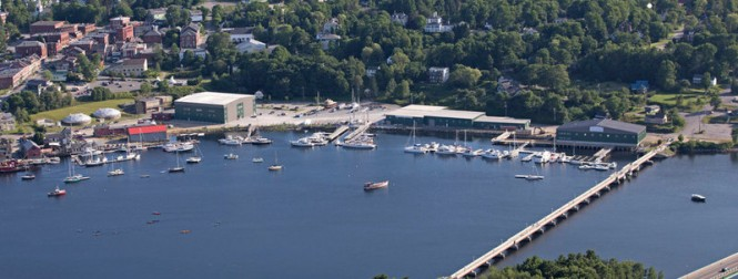 Aerial view of Front Street Shipyard