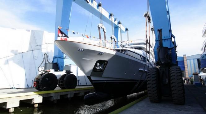 Benetti launching Classic 121 superyacht Dyna