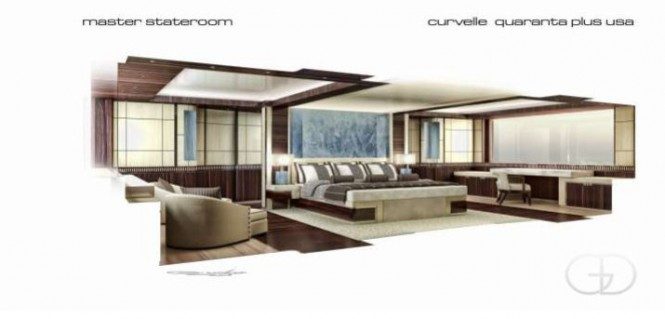 Curvelle quaranta Plus USA Yacht - Interior