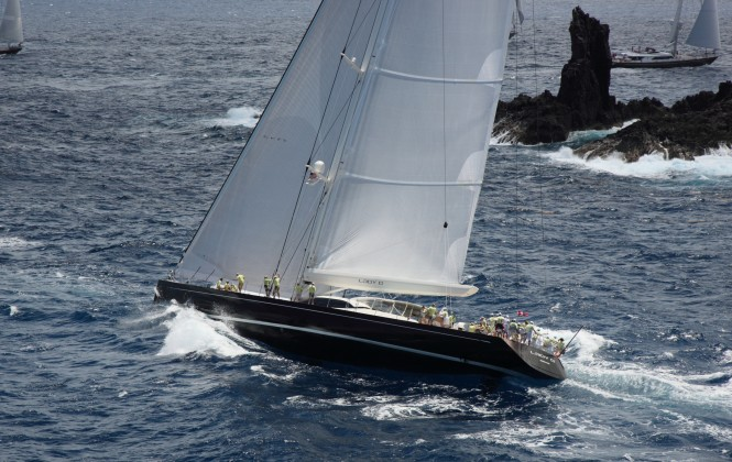 Dubois designed 45 m Yacht Lady B by Vitters competing in St Barths Bucket 2012