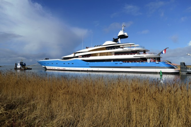 Feadship launch superyacht PROJECT DREAM