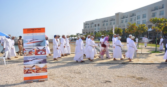 Gulf Craft participants during the visit of Oman Minister of Sports