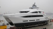 Launch of 110ft Quaranta superyacht for Curvelle at Logos Marine