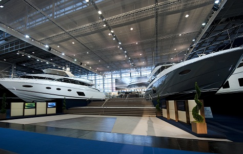 Luxury Princess yachts on display at Dusseldorf Boat Show 2013