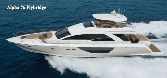 Luxury motor yacht Alpha 76 Flybridge by Cheoy Lee