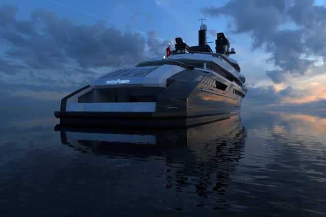 Luxury motor yacht DP002 concept