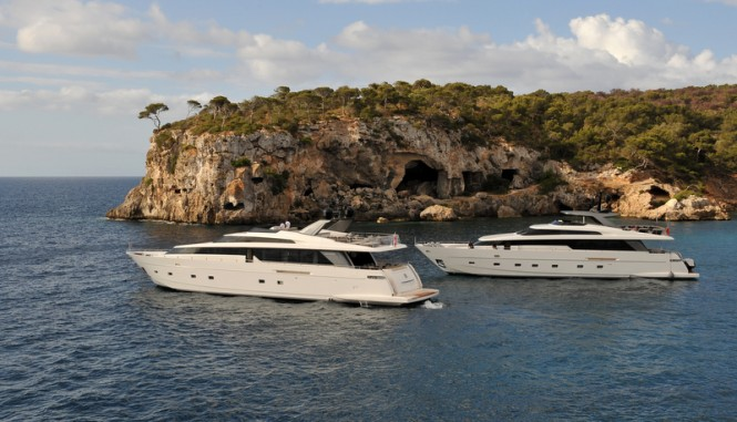 Luxury motor yacht SL104 and SL94 yacht by Sanlorenzo