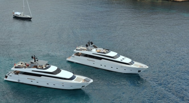 Luxury motor yachts SL104&amp;SL94 by Sanlorenzo