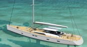 Luxury sailing yacht Swan 105 Credit Nautors Swan 2012
