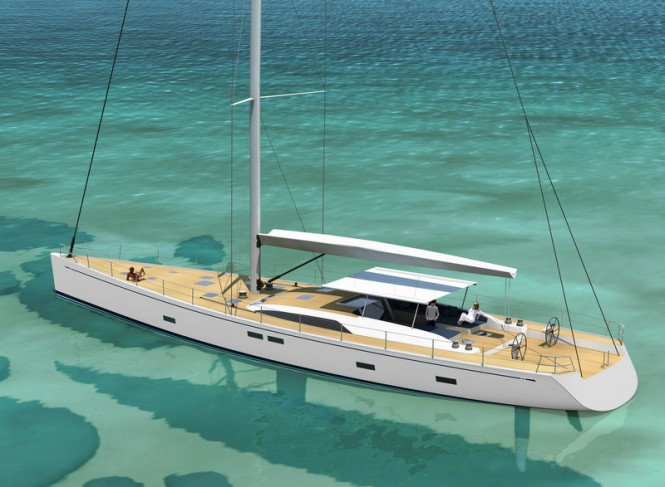 Luxury sailing yacht Swan 105 Credit Nautors Swan 2012