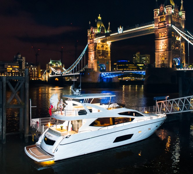 Luxury yacht Manhattan 73 in central London