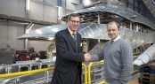 Mark Cavendish, Sales Director at Heesen Yachts and Toby Scruby, General Manager at Al-Futtaim Marine