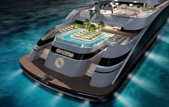 My World superyacht concept - aft view