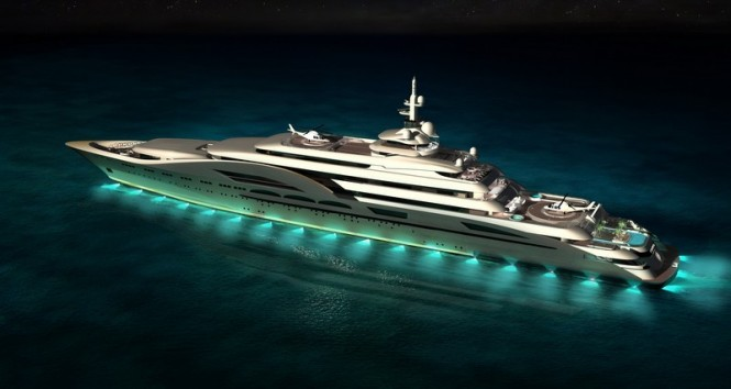 NC 125 Yacht My World design at night