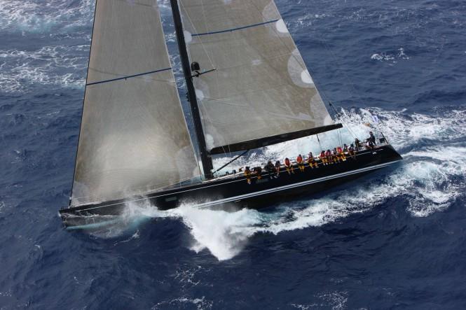 Swan 90 superyacht Nefertiti competing in RORC Caribbean 600 2013