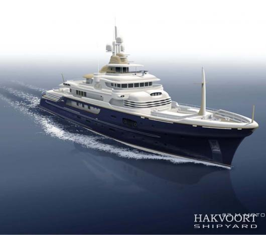 New 63 m mega yacht YN249 by Hakvoort