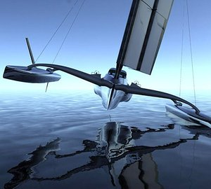 New 100' racing trimaran yacht AIRBENDER designed for charter by Salt & Water