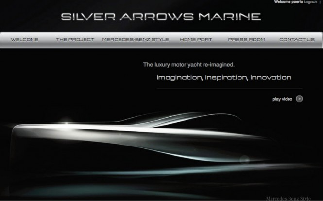 New website for Mercedez Benz-styled Granturismo yacht tender by Silver Arrows Marine