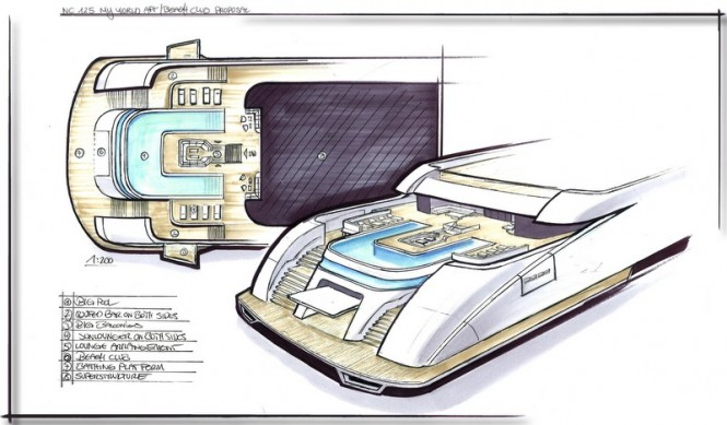 Newcruise designed My World Yacht Concept