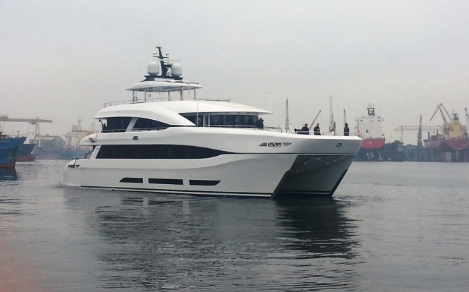 Newly launched superyacht Quaranta