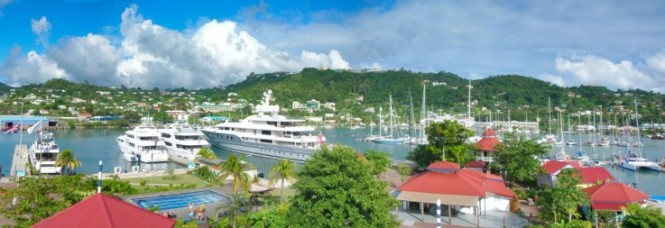 Port Louis Marina situated in a fabulous Caribbean yacht charter location - Grenada