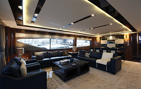 Princess 98 Superyacht - Saloon