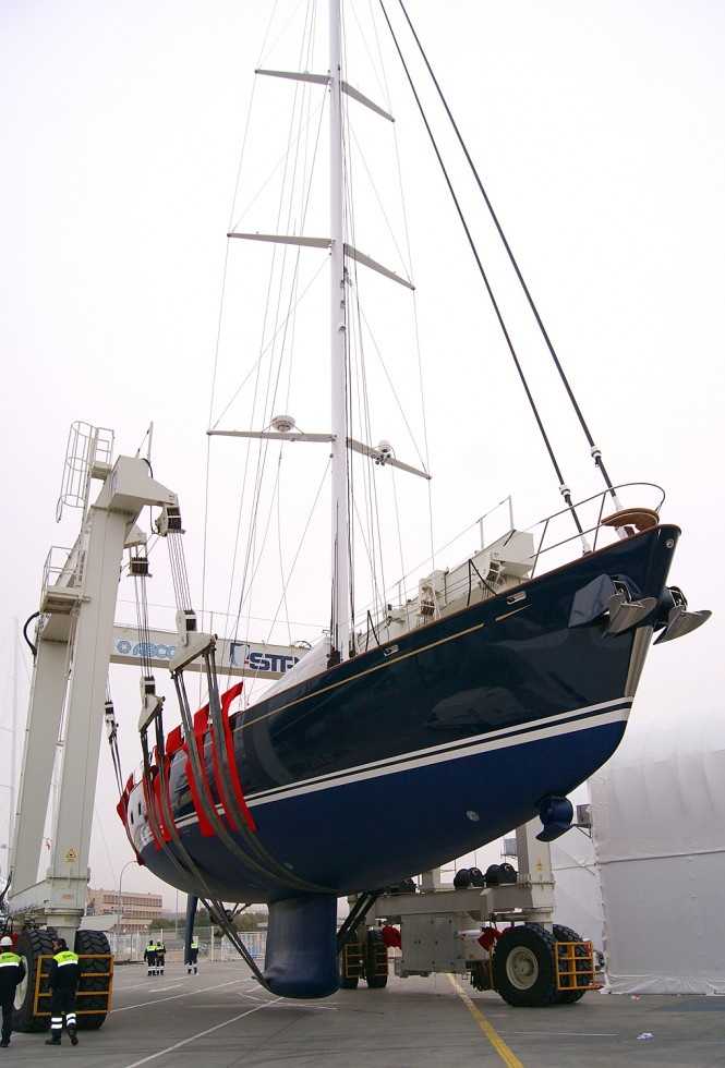 Re-launch of charter yacht Margaret Ann refitted by Pendennis Palma