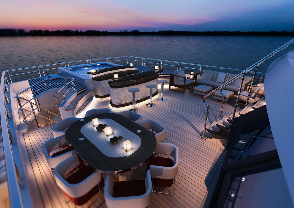 Red Square Yacht Bridge Deck Image Courtesy Of Dunya Yachts