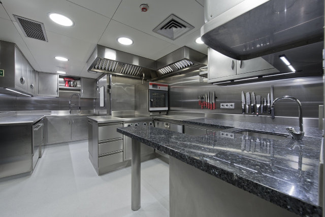 Superyacht Paramour - Galley