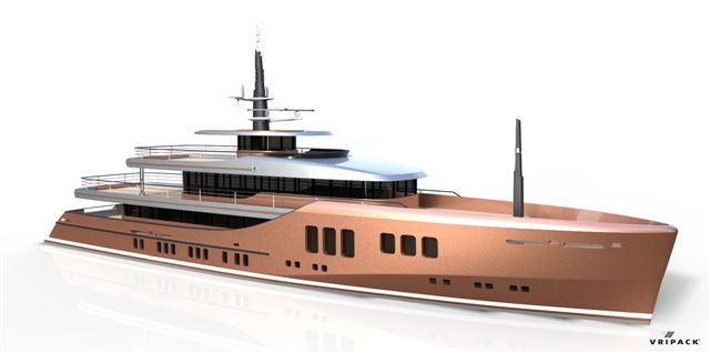 Superyacht Project Liquid 500 - 50m Version of the 85m Project Liquid mega yacht