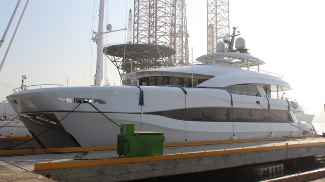 Superyacht Quaranta for Curvelle being launched by Logos Marine
