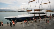 Tecnomar Nadara 45 charter yacht OURANOS at launch